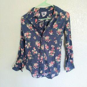 [ BILLABONG xs long sleeve floral top ]